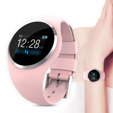 Women-pink-smart-watch-LED-screen