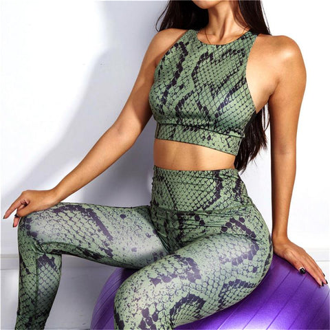 2019 Yoga Set Woman Sportswear Fitness Sport Suit Tracksuit Women Yoga Leggings Workout Clothes Gym Clothing
