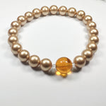 Swarovski Bracelet with Amber Bead, Leticia
