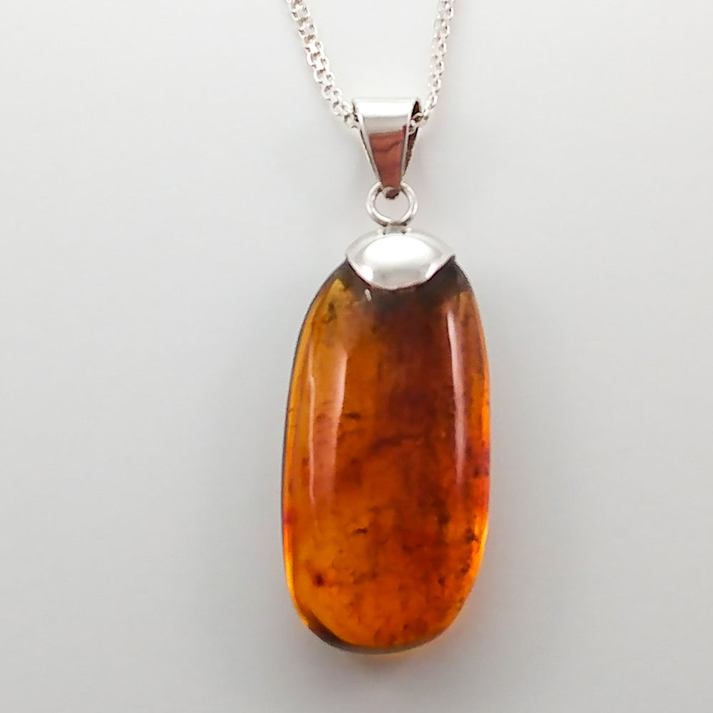 Oval Amber Pendant, Isabel