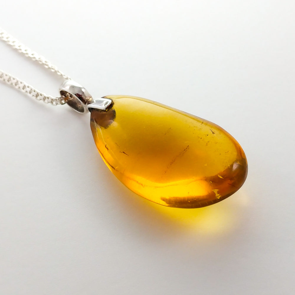Semi- Oval Amber Pendant, Evelyn