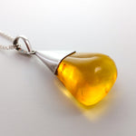 Free-Shaped Amber Pendant, Riley