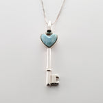 Heart Key Larimar Pendant, Kate