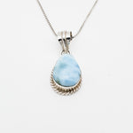 Oval Larimar Pendant, Nancy