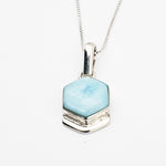 Hexagon Larimar Pendant, Destiny
