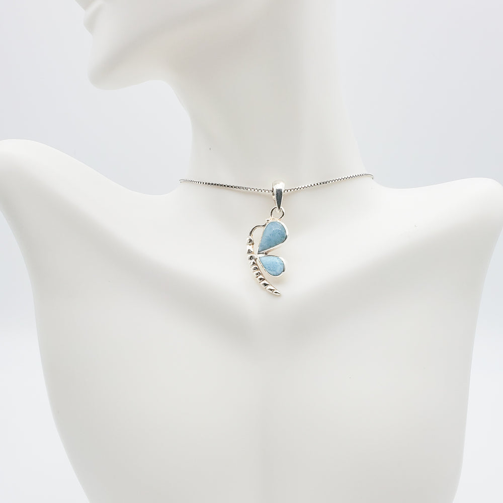 Butterfly Larimar Pendant, Lilah