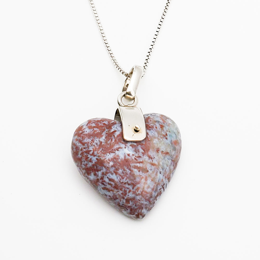 Heart Red Larimar Pendant, Theresa
