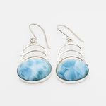 Round Larimar Earrings, Felicity