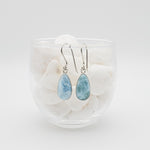 Oval Larimar Earrings, Miranda