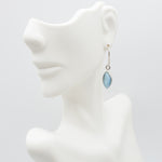 Oval Dangle Larimar Earrings, Roxanne