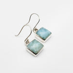 Square Larimar Earrings, Yvonne