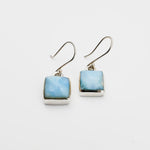 Square Larimar Earrings, Yvonne II