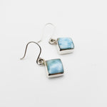 Diamond- Shaped Larimar Earrings, Genevieve