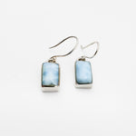 Rectangular Larimar Earrings, Justine