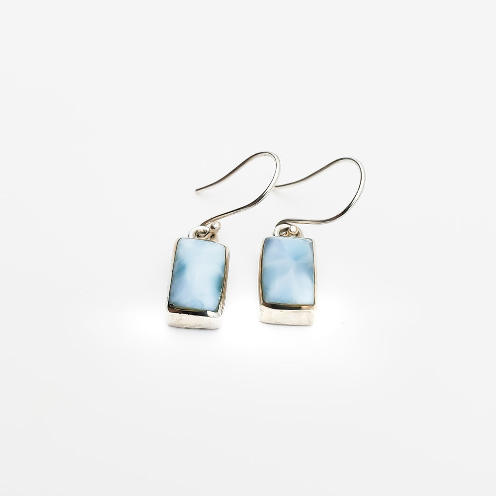 Rectangular Larimar Earrings, Justine I