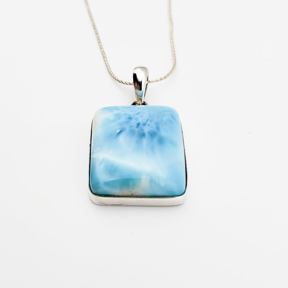Square Larimar Pendant, Madison