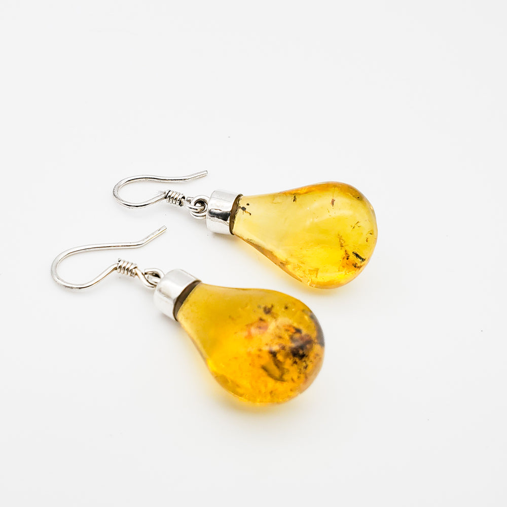 Bulb Amber Earrings, Ines