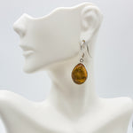 Teardrop Amber Earrings, Marion