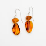 Faceted Amber Dangle Earrings, Raelyn