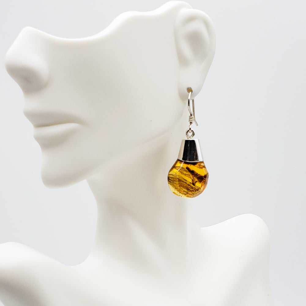 Amber Dangle Earrings, Ophelia