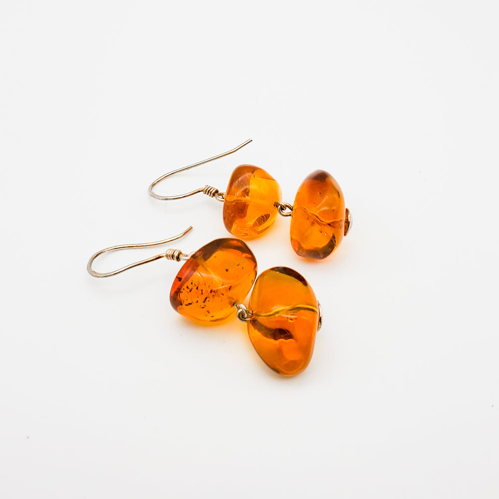 Amber Dangle Earrings, Doris