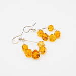 Amber Hoop Earrings, Mabel