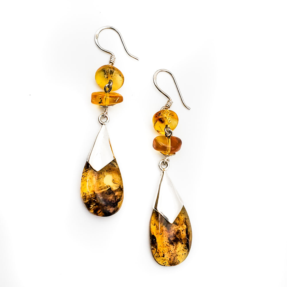Amber Dangle Earrings, Regina