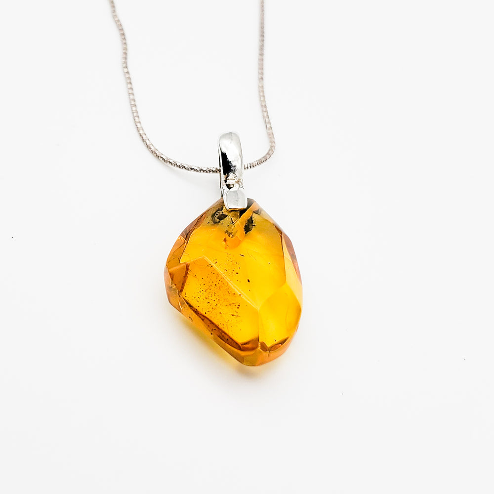 Faceted Amber Pendant, Irina