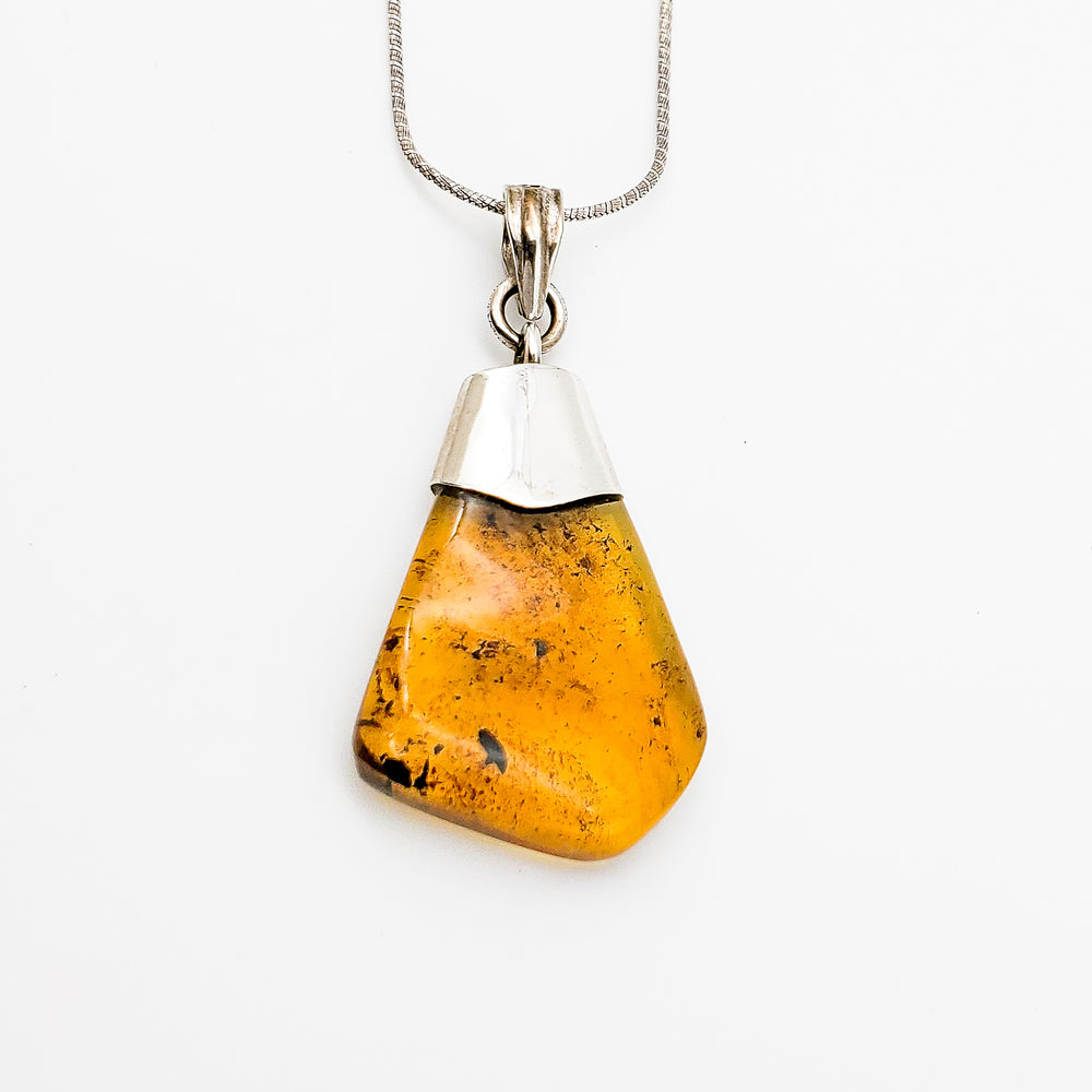 Free Form Amber Pendant, Carly