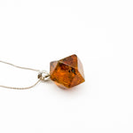 Faceted Amber Pendant, Alexia