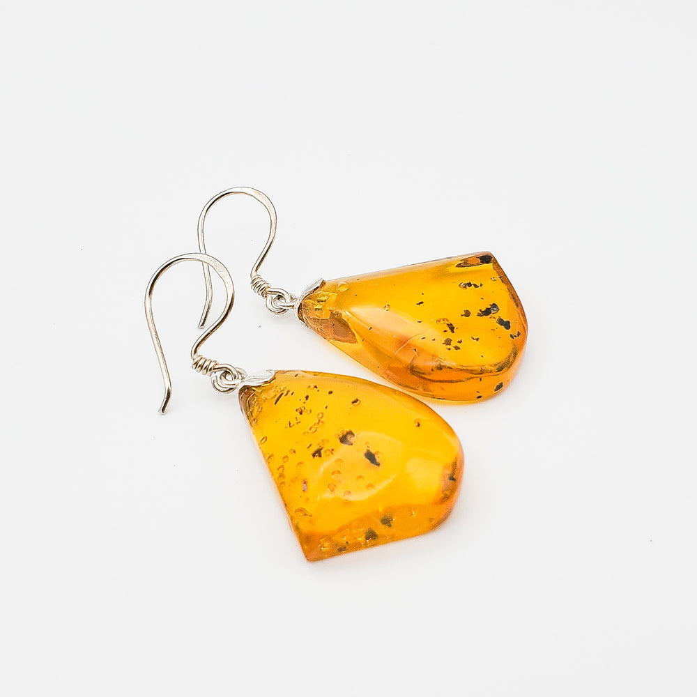 Free Form Amber Earrings, Molly