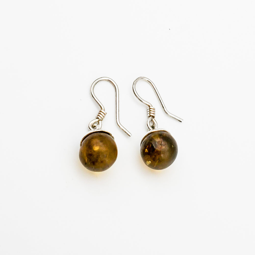 Amber Bead Earrings, Josie