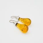 Bulb Amber Earrings, Mavis