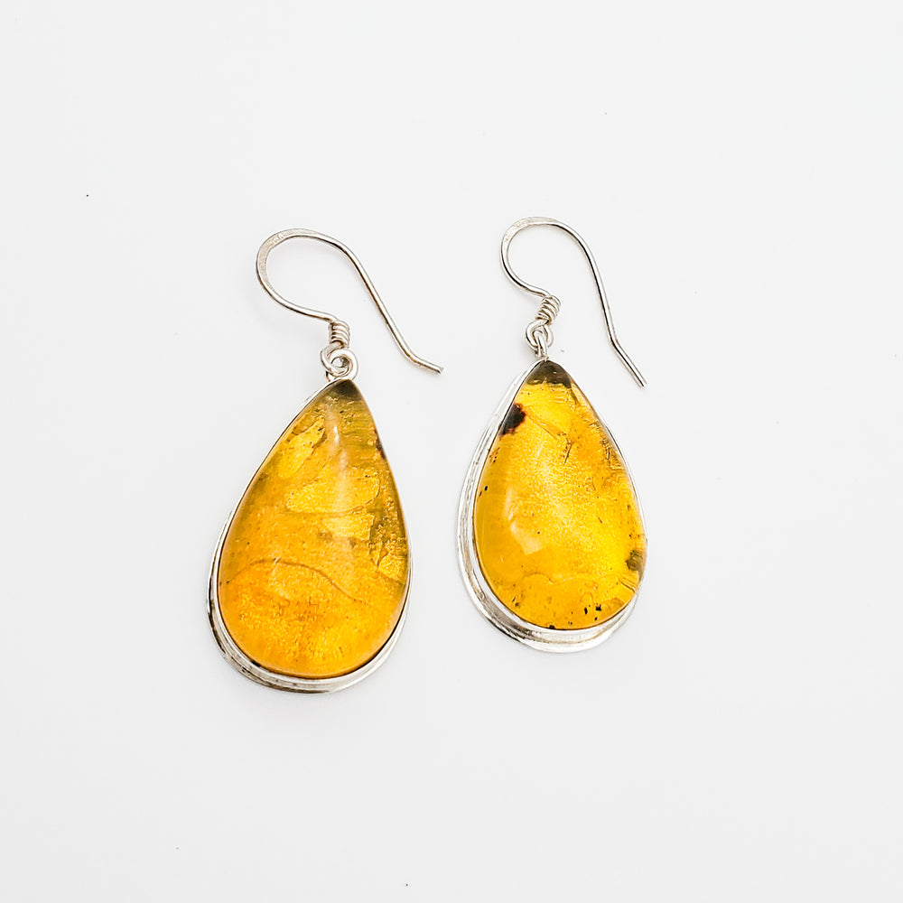 Teardrop Amber Earrings, Noreen