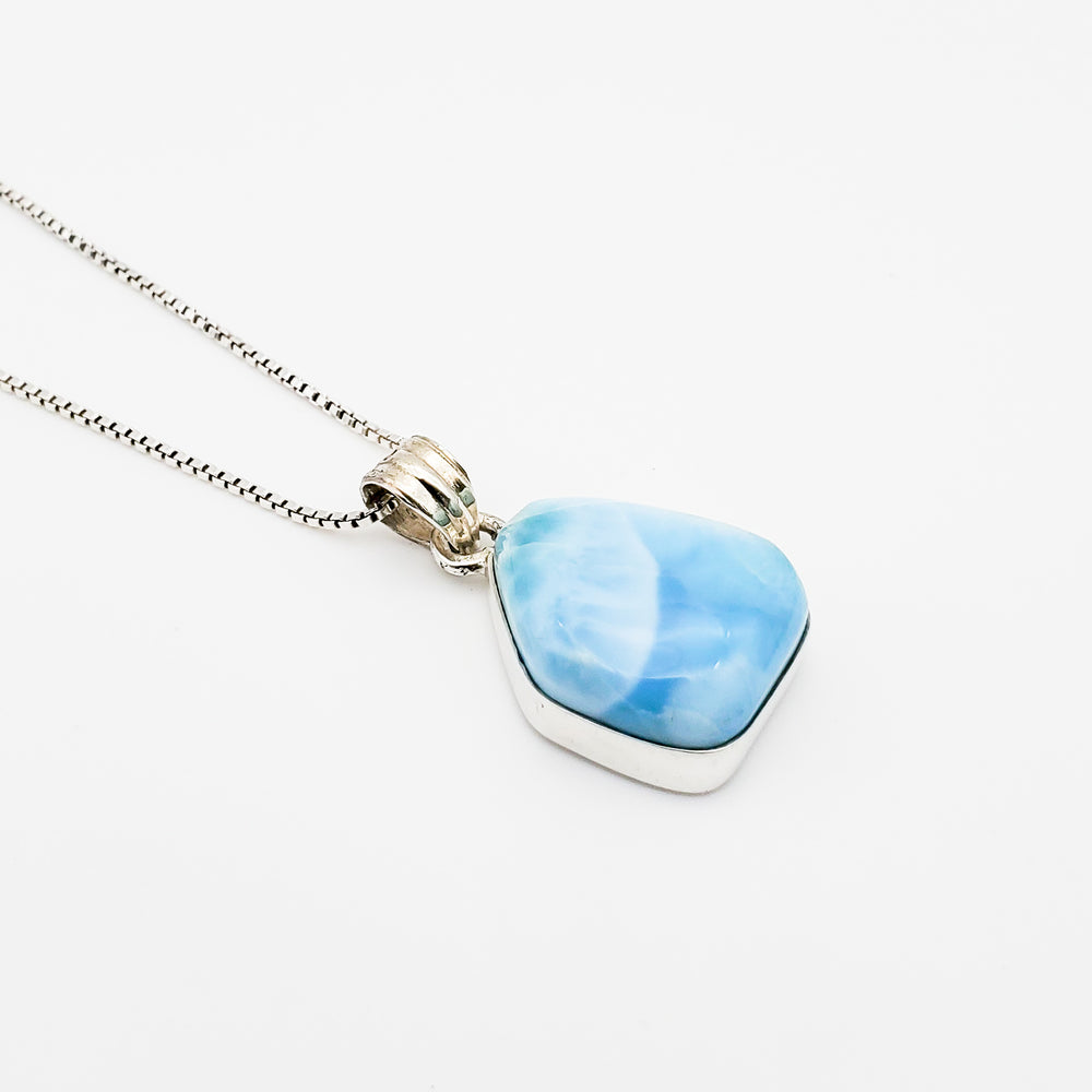 Free Form Larimar Pendant, Betty