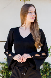 Liz Cut out Sleeve Top