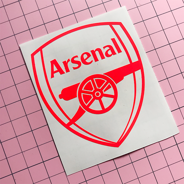 Arsenal Decal -Neon Red