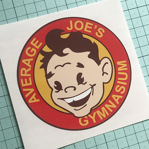Average Joe's Sticker