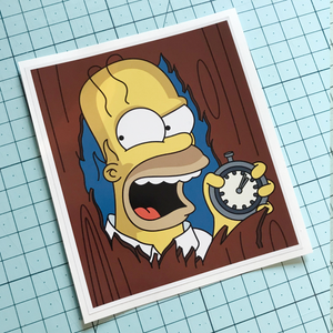 Crazy Homer Sticker