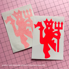 Load image into Gallery viewer, Red Devil Decal -Neon Red