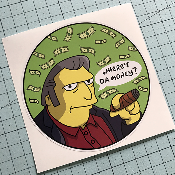 Fat Tony Sticker