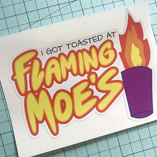 Flaming Moes Sticker