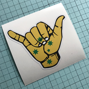 Hang Loose Oz Sticker