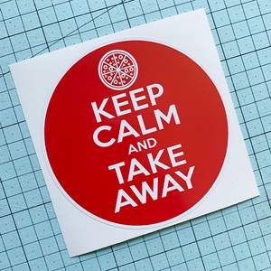Keep Calm (pizza) Sticker