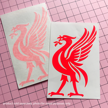 Load image into Gallery viewer, Liver Bird Decal -Neon Red