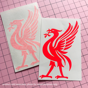 Liver Bird Decal -Neon Red