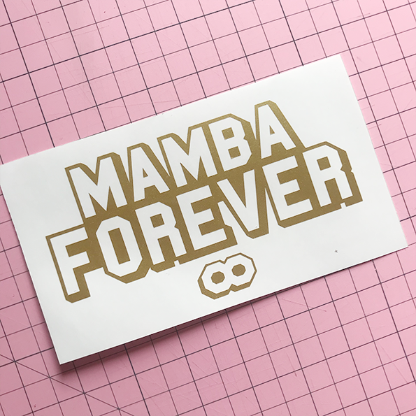 Mamba Forever Decal