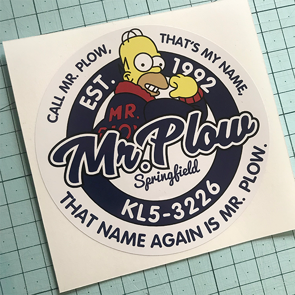Mr Plow Sticker