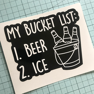 My Bucket List Sticker