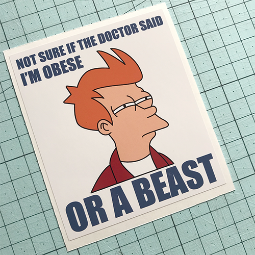 Obese Or Beast Sticker